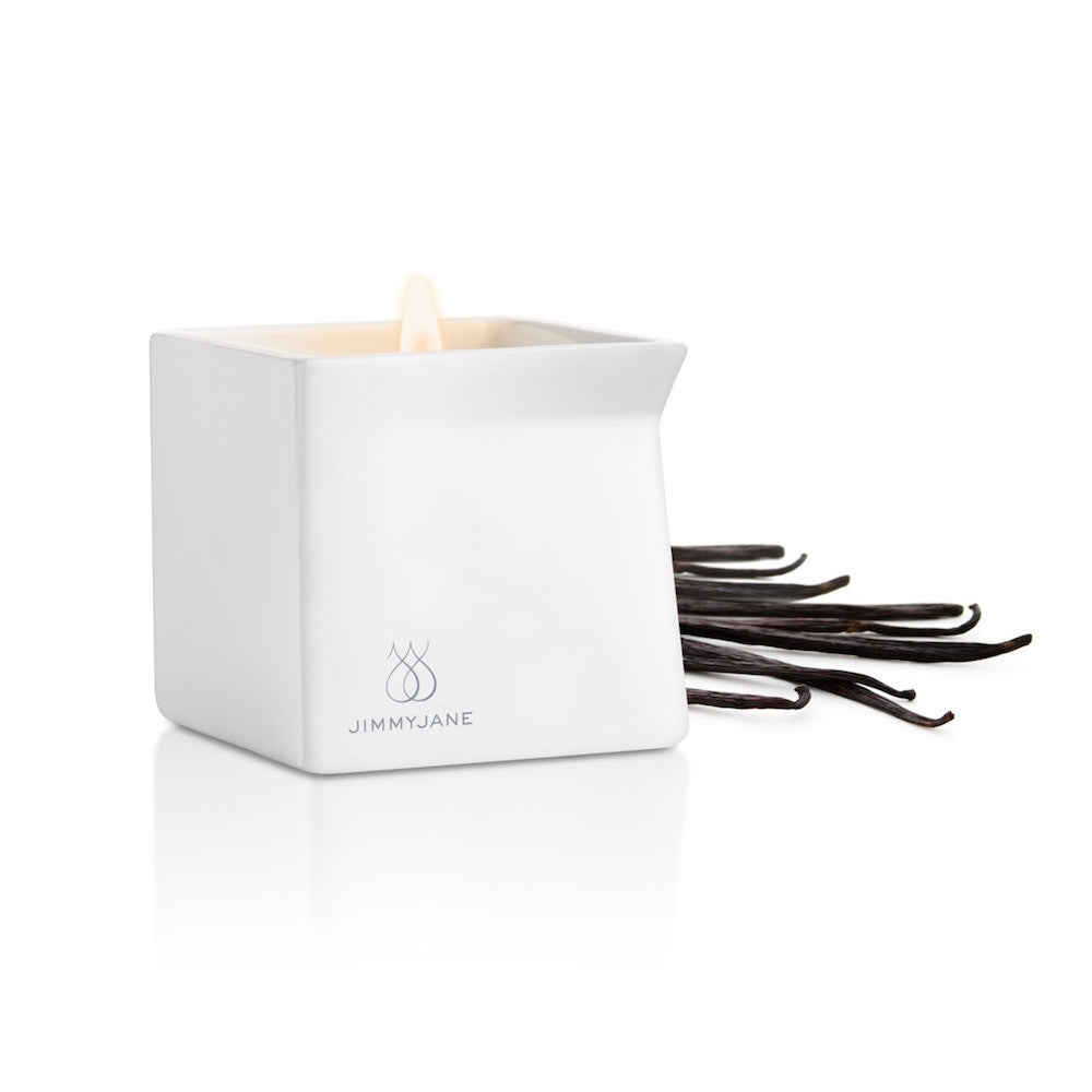 jimmyjane afterglow massage oil candle dark vanilla teddies for Bettys