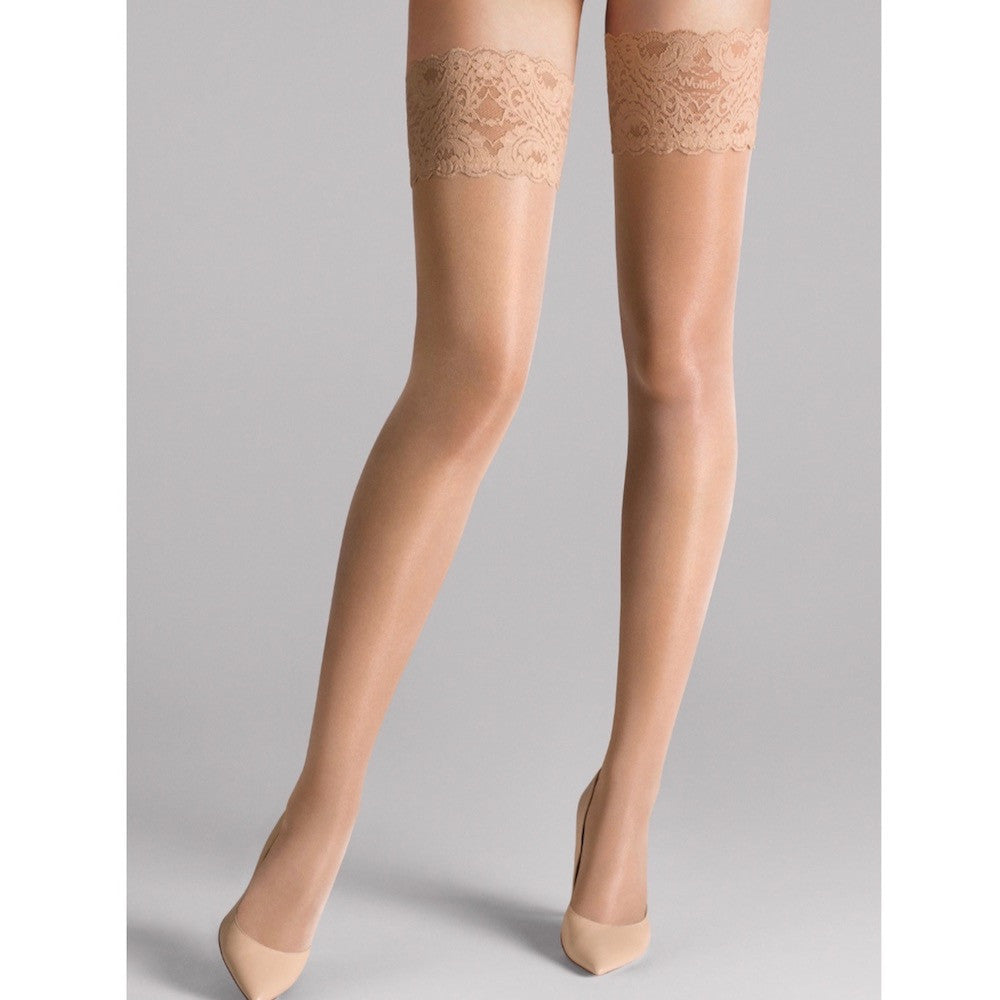 Wolford Satin Touch 20 Stay Ups gobi teddies for bettys