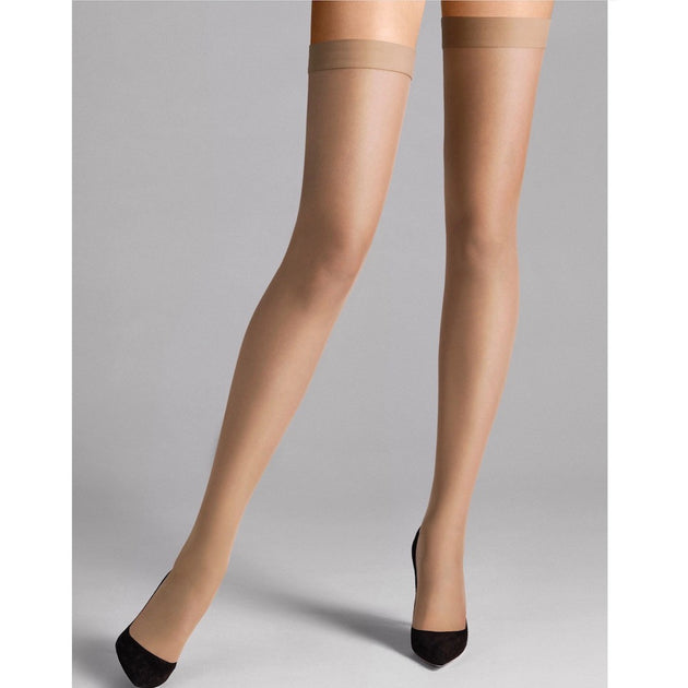 Wolford Individual 10 Stay Ups fairly light teddies for bettys