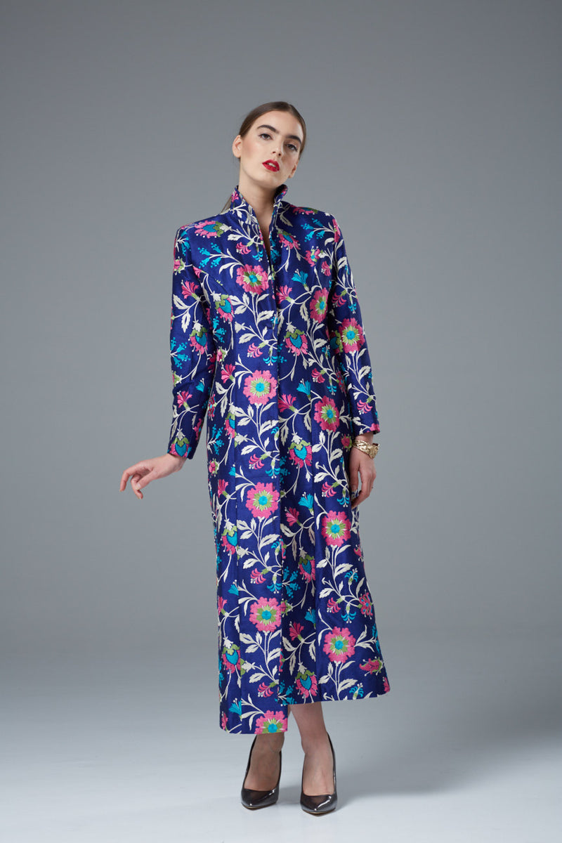 Designer Long Coat - thread embroidery