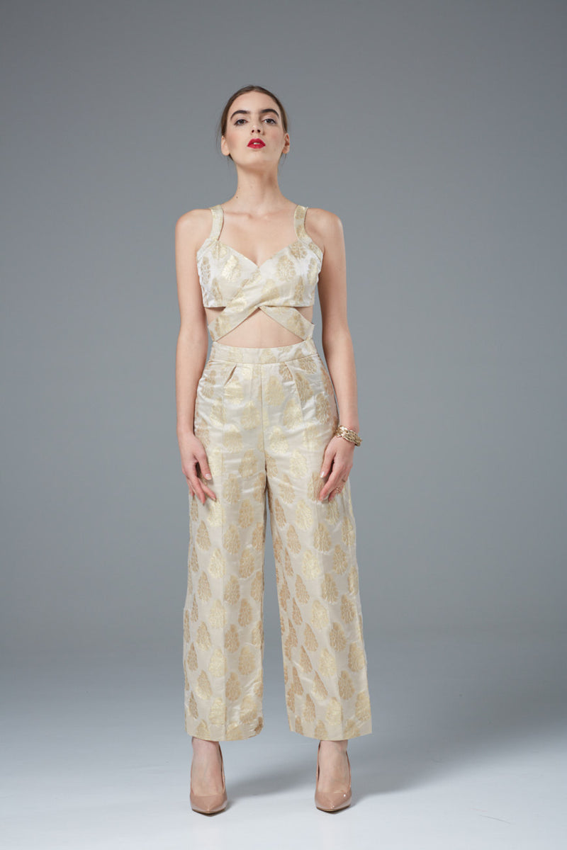 Silk formal jumpsuite