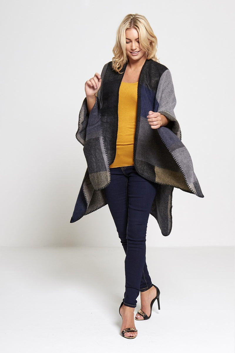 Patchwork Wool Cape