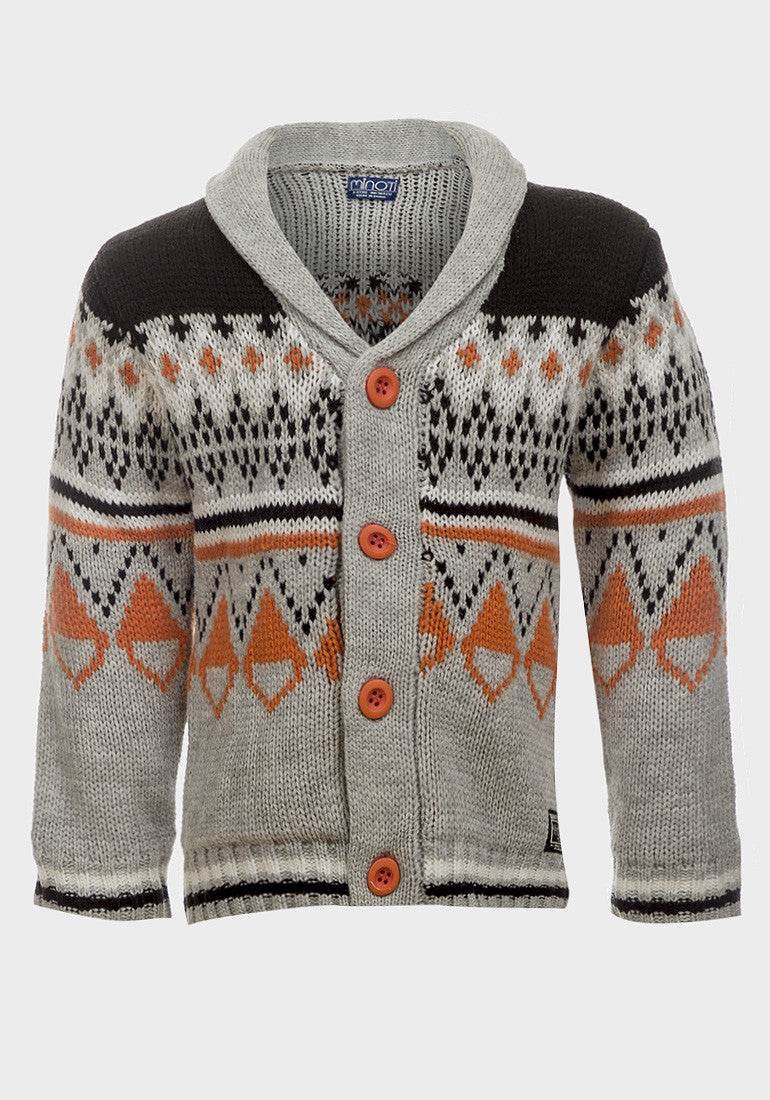 Minoti Boys Knitted christmas Cardigan