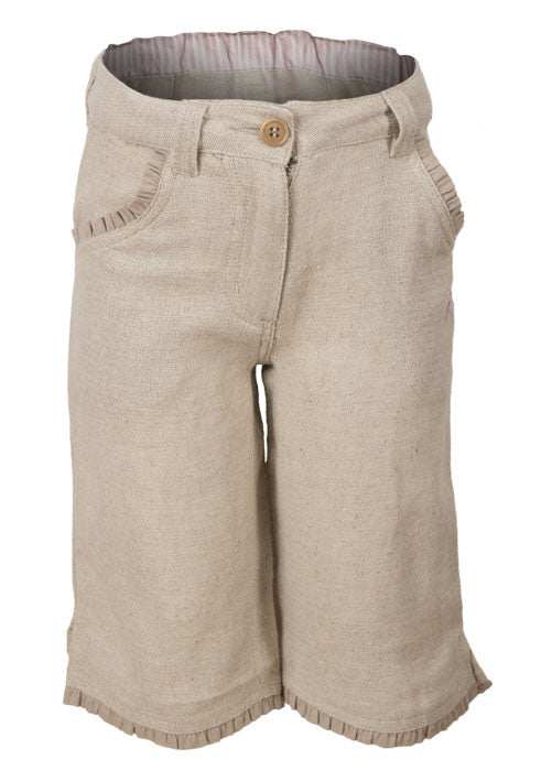 'Earth Collection' Girls Linen Blend Trousers