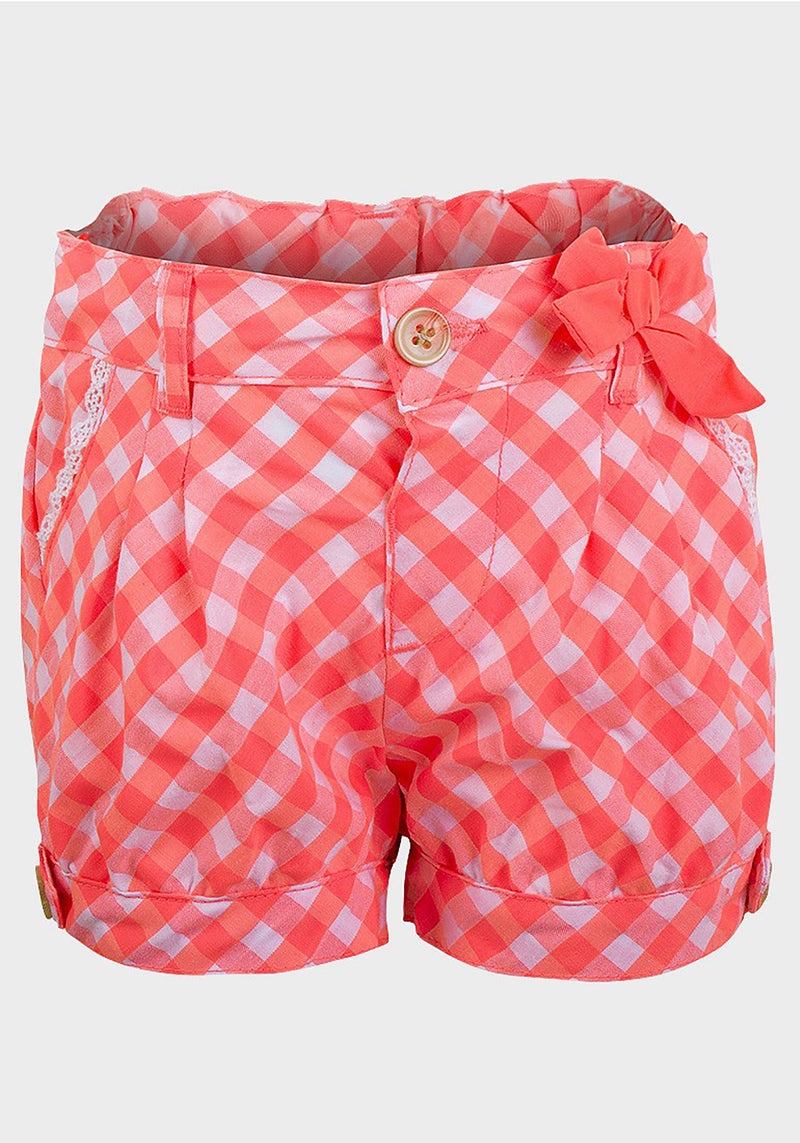 """Lily & Lola"" Girls Check Shorts"