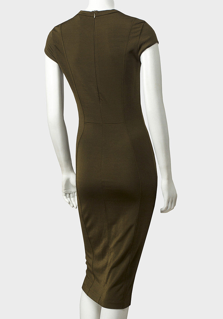 Olive Shift Dress