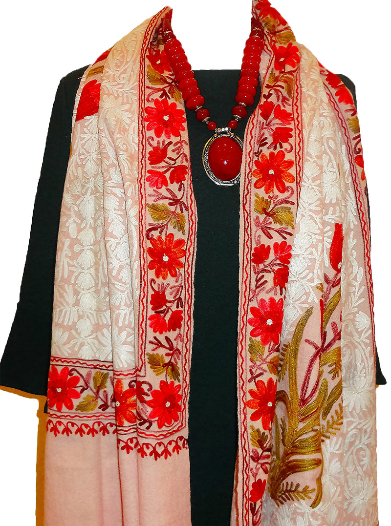 Stunning Stole with embroidery