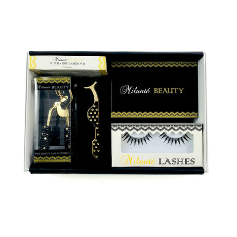 Vegan Human Hair Lashes Travel Size Lash Case Gift Set