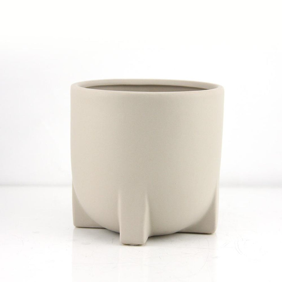 Astro Taupe Ceramic Pot
