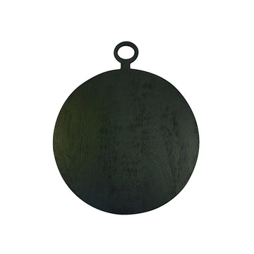 Black Mango Wood Round Board / Medium