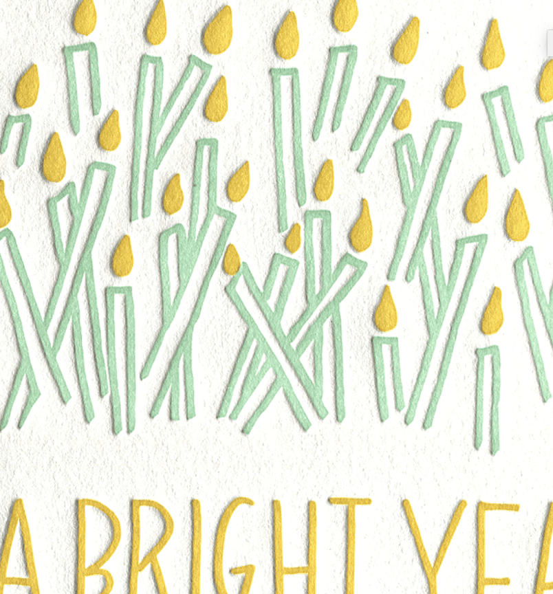 BRIGHT YEAR CARD