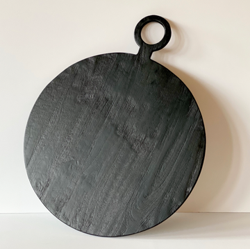 Brushed Black Round Board, Extra Large