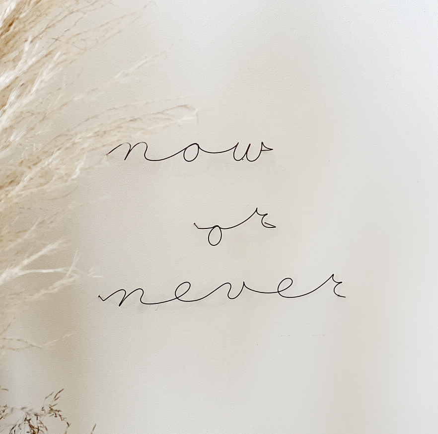 NOW OR NEVER / METAL WORD