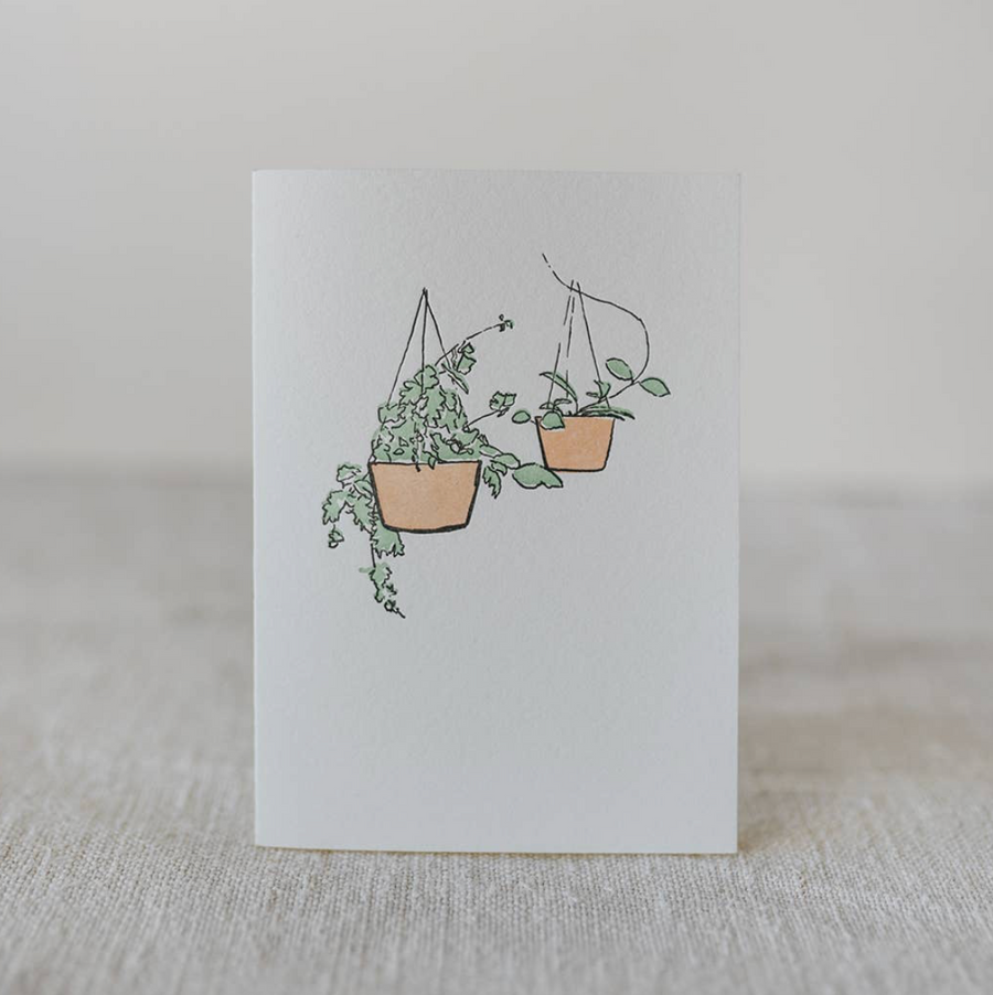 Hanging Plants Greeting Card
