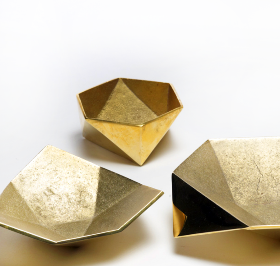 Origami Brass Bowl - Medium