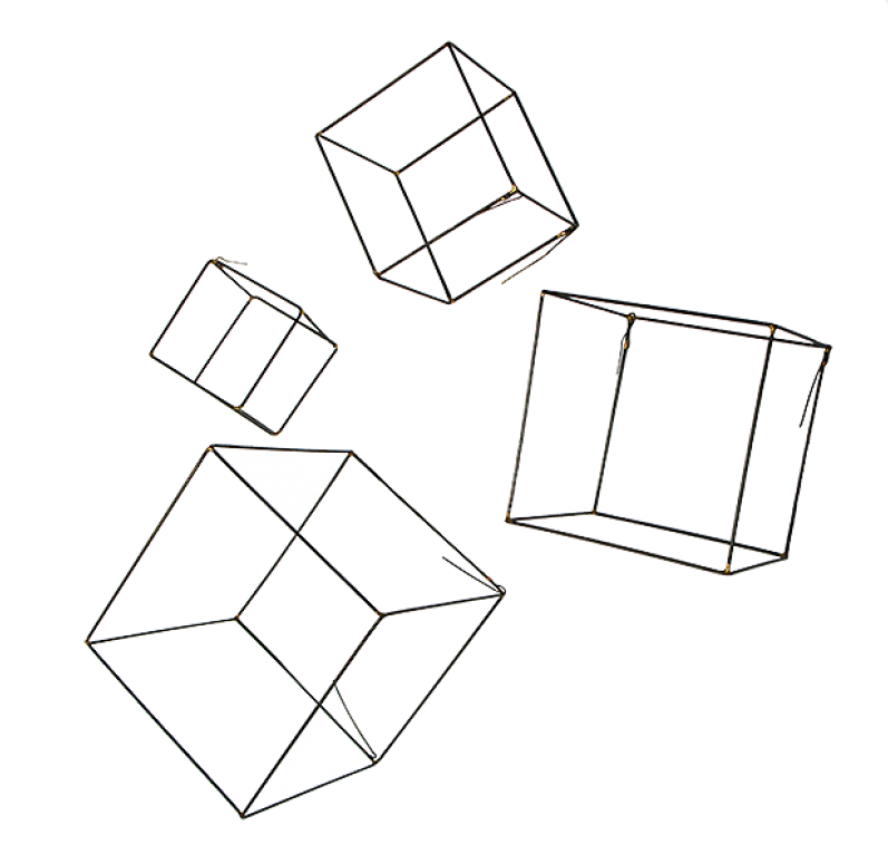 Wire Cubes - set of 4