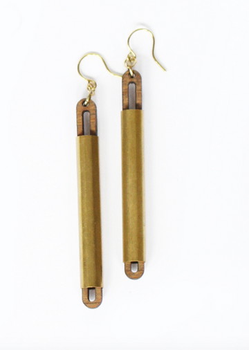 CROSSLYNE / Open Tube Wrap Earrings