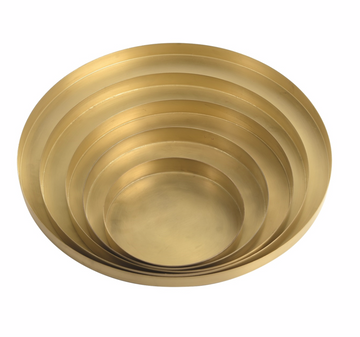 Brass Plated Circle Tray