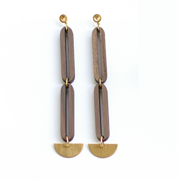 CROSSLYNE  - Open Link Lunar Drop Earrings