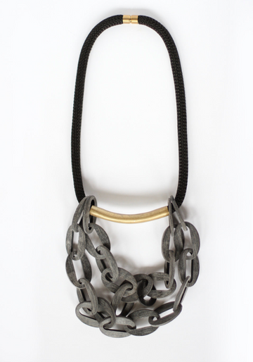 CROSSLYNE - Horn ClusterCurve Statement Necklace