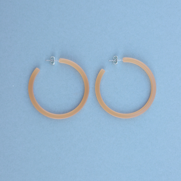 Zuri Hoops In Peach