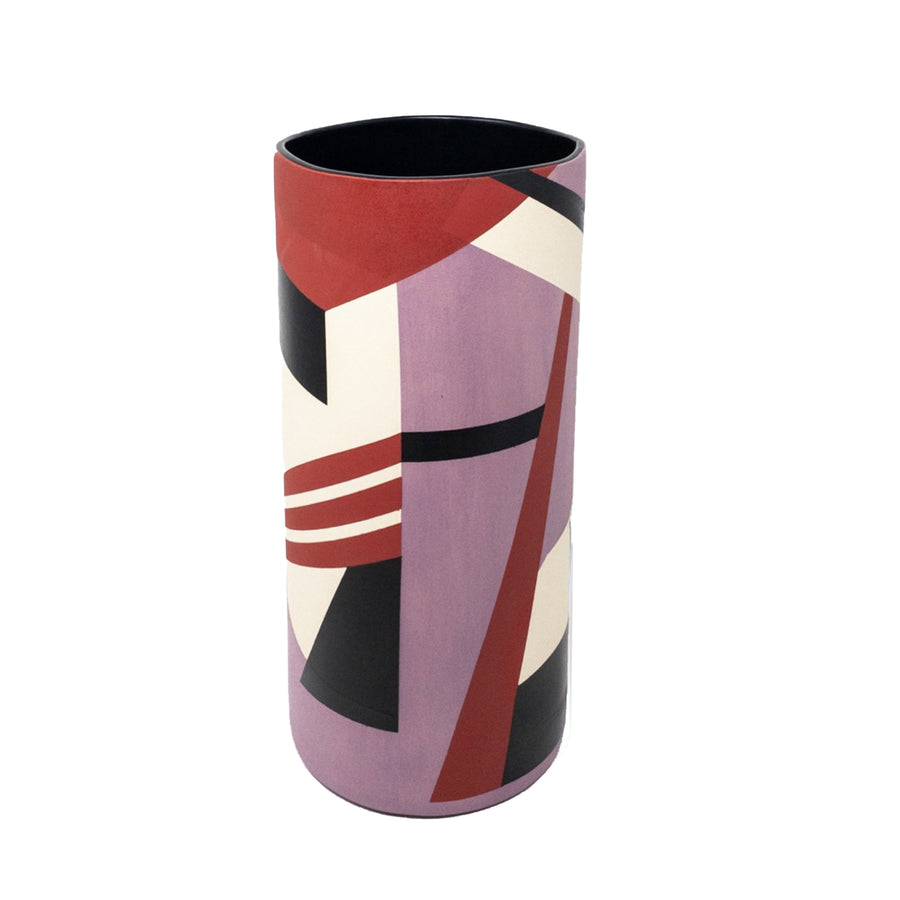 Sally Blair Purple CERAMIC CYLINDER VASE
