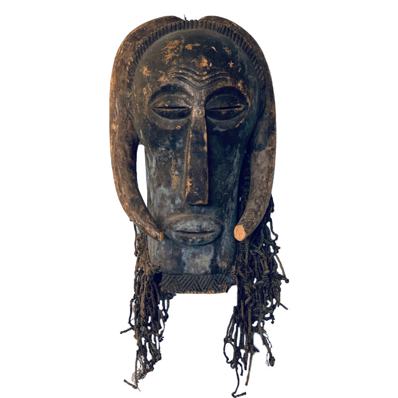 Vintage African Mask / Braided