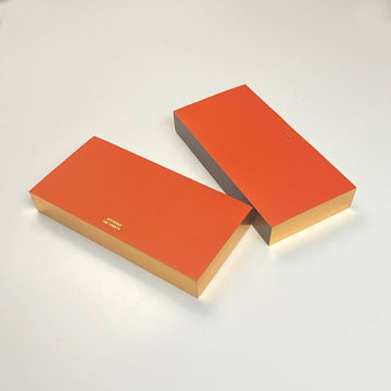 Red ColorPads with Gilded edge - MEDIUM LONG