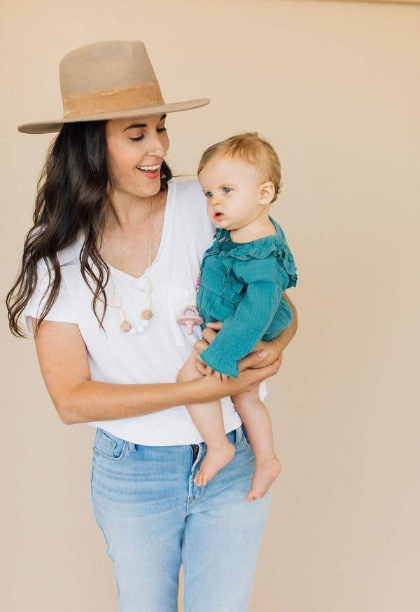 The Sienna Moonstone Teething Necklace