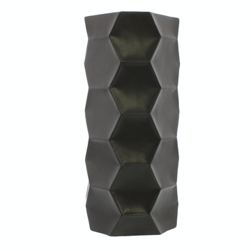 MATTE CHARCOAL CERAMIC VASE - TALL