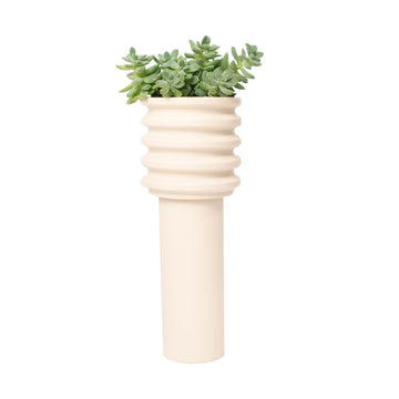 CONTOUR TOWER PLANTER / Natural
