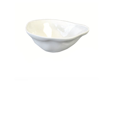 Stoneware Pinch Bowl / White