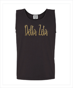 DELTA ZETA FOILED COMFORT COLOR TANK