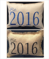 Burlap Or Canvas Est. Pillow