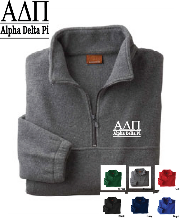 ADPi Quarter Zip Fleece Jacket