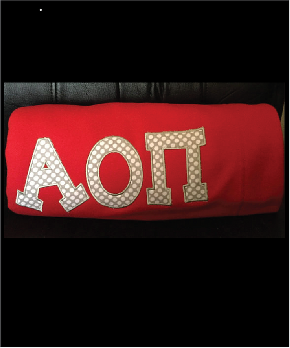 AOPi Sorority Sweatshirt Fleece Blanket