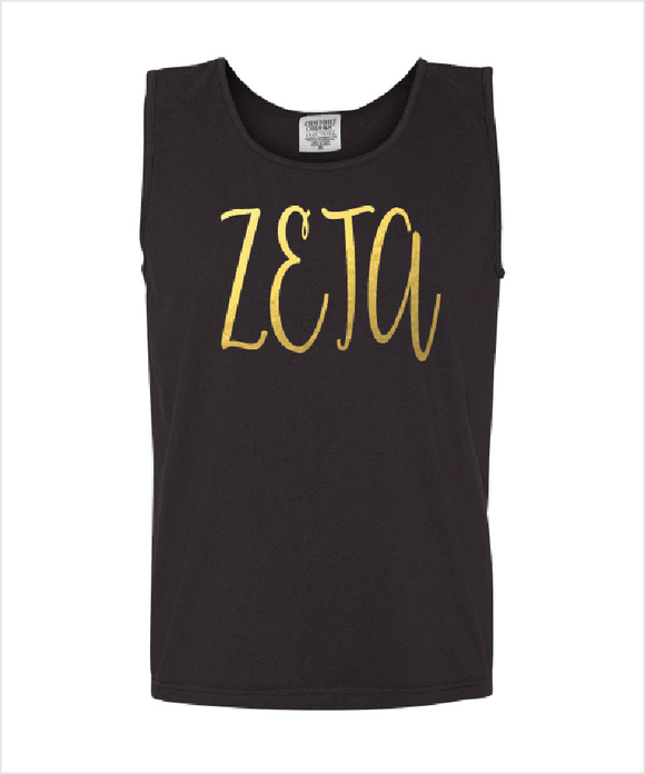 ZETA TAU ALPHA FOILED COMFORT COLOR TANK