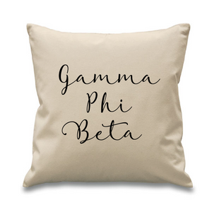 Gamma Phi Beta // Cursive Pillow
