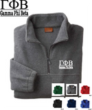 Gamma Phi Beta Quarter Zip Fleece Jacket
