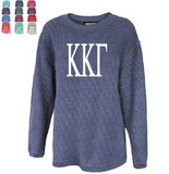KAPPA KAPPA GAMMA WASHED CORDED CREWNECK