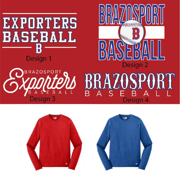 BPORT BASEBALL - Long Sleeve New Era Dri Fit - Adult Only