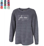 PHI MU WASHED CORDED CREWNECK (CONERIA)
