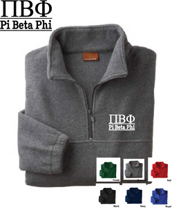 Pi Phi Quarter Zip Fleece Jacket