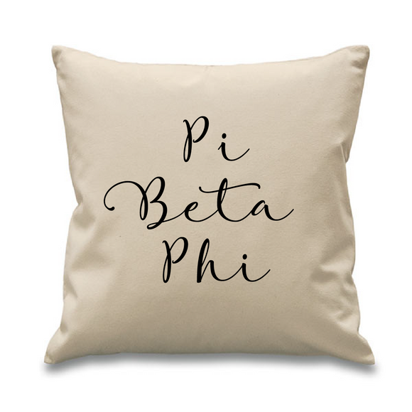 Pi Beta Phi // Cursive Pillow