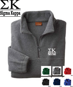 Sigma Kappa Quarter Zip Fleece Jacket