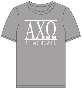 Alpha Chi Omega // Short Sleeve (Greek Letters) T-shirt