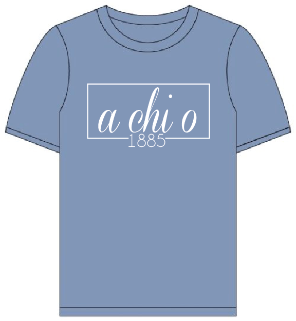 Alpha Chi Omega // Comfort Color Short Sleeve (Coneria) T-shirt/