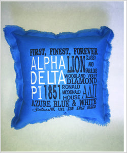 ADPi Embroidered Pillow: Colored