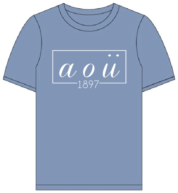 Alpha Omicron Pi // Comfort Color Short sleeve (Coneria) T-shirt
