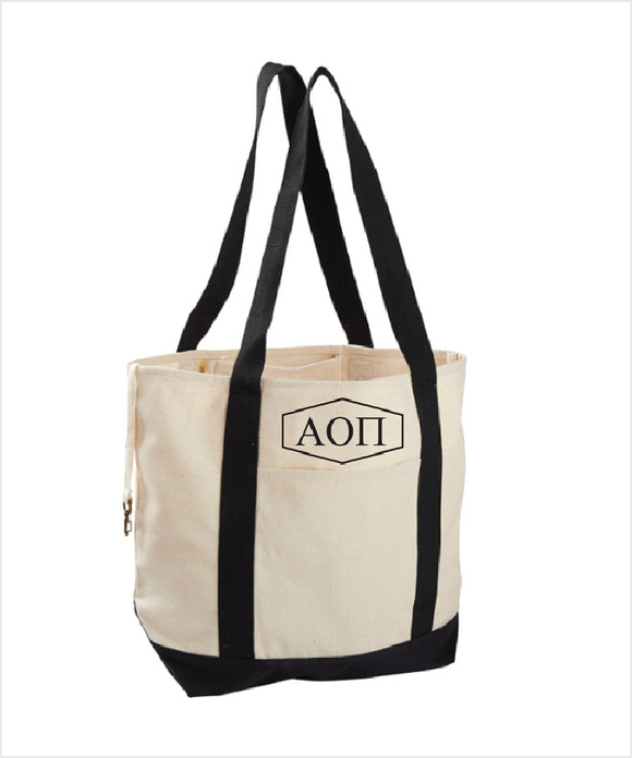 AOPi Canvas Tote Bag